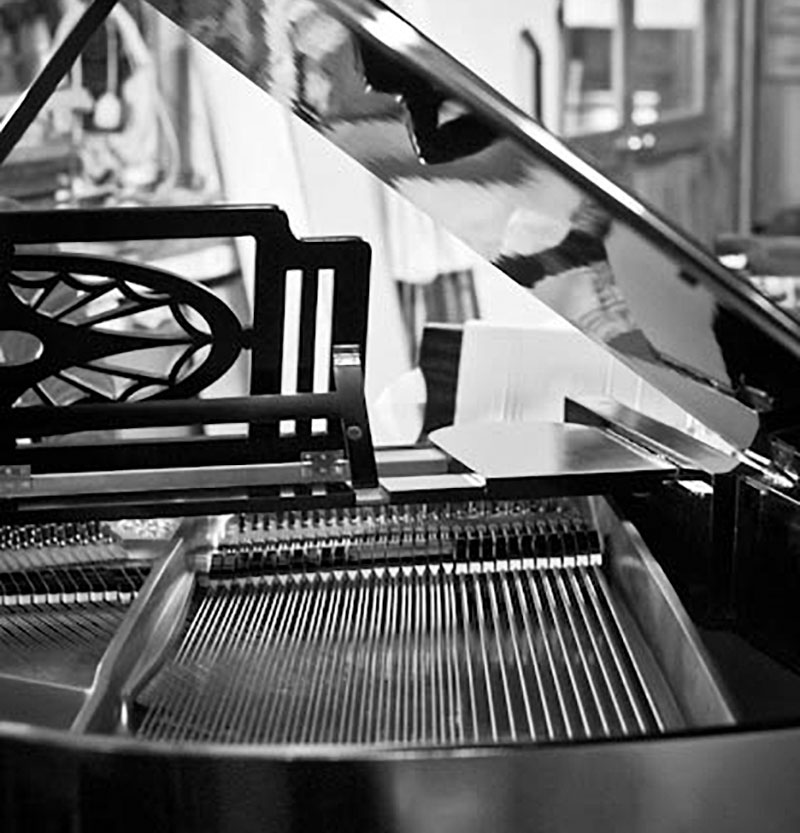 Grand piano in a shop