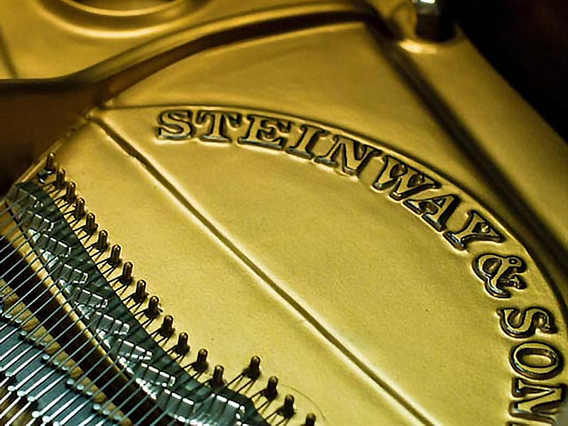 Strings of a Steinway Piano